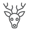 deer line icon animal and zoo stag sign vector image vector image