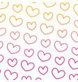 degraded line nice heart love symbol background vector image vector image