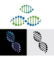 DNA gene vector image vector image