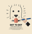 Dot to Dot Animal Games vector image