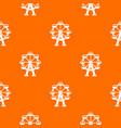 ferris wheel pattern seamless vector image vector image