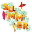 flat big word summer on the vector image