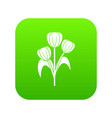 flowers icon digital green vector image vector image