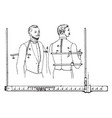 gradually marked tailors measure vintage vector image vector image