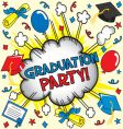 graduation party vector image vector image