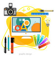 graphic and web design trendy amoeba style concept vector image vector image