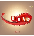 Greeting card 2012 year of Dragon vector image