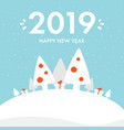 greeting card for new year 2019 vector image vector image