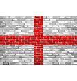 Grunge flag of England on a brick wall vector image vector image