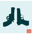 Guns icon isolated vector image vector image