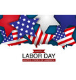 happy labor day design concept usa holiday vector image vector image