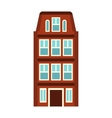 House icon in flat style vector image