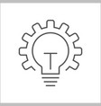 innovation icon light bulb and gear vector image vector image