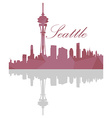 Isolated Seattle skyline vector image vector image