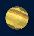 jupiter planet icon flat style vector image