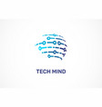 logo - technology tech icon and symbol vector image vector image