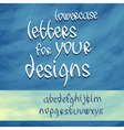 lowercase letters vector image vector image