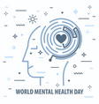 mental health day vector image vector image