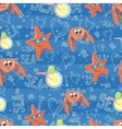 pattern with sea life vector image vector image
