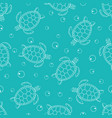 pattern with sea turtles 2 vector image vector image