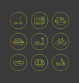personal urban transport flat icons vector image vector image