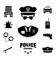 Police design vector image vector image