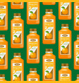 realistic detailed 3d orange juice seamless vector image vector image