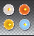 realistic round candles in a metal case isolated vector image
