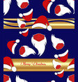 santa claus wears surgical mask seamless pattern vector image vector image