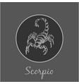 scorpio astrological zodiac symbol horoscope sign vector image