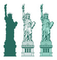 set of the statue of liberty in new york city vector image