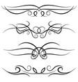 set of vintage decorative curls vector image