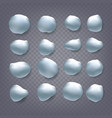 snowballs set snowballs snowdrift new vector image vector image