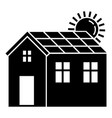 solar panel house icon simple style vector image vector image