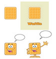 square waffle character set 1 collection vector image vector image