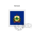 State of Vermont flag postage stamp vector image