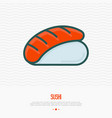 sushi thin line icon for menu of restaurant vector image vector image