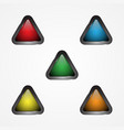 triangle button vector image vector image
