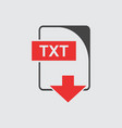 txt icon flat vector image vector image
