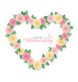 valentine s day card floral heart isolated on vector image vector image