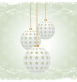 vintage christmas baubles vector image vector image