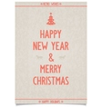 Vintage poster on old paper for new year vector image vector image