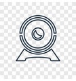web camera concept linear icon isolated on vector image