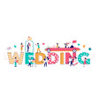 wedding typography banner template flat vector image