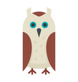 wise owl in flat style vector image vector image