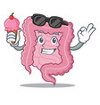 with ice cream intestine character cartoon style vector image