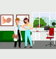 young mother visiting a breastfeeding counselor vector image