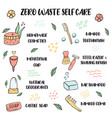 zero waste lifestyle tips for self care vector image