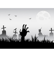 zombie waking vector image vector image