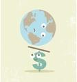 Crisis finance currency dollar balance vector image
